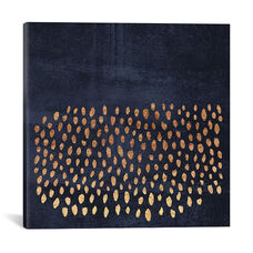 Pattern Play (Gold & Navy) by Elisabeth Fredriksson Gallery Wrapped Canvas Artwork