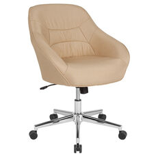 Marseille Home and Office Upholstered Mid-Back Chair in Beige Fabric