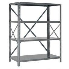5 Shelf 18 Gauge Ironman Steel Open Clip Shelving