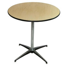 Round Elite Cocktail Series Table with Chrome Finished Column