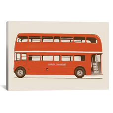 English Bus (London Transport Double-Decker) by Florent Bodart Gallery Wrapped Canvas Artwork
