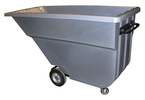 "Our Bayhead 1.1 Cubic Yard Light Duty Tilt Truck 900lb Capacity - 4"" casters, Gray is on sale now."