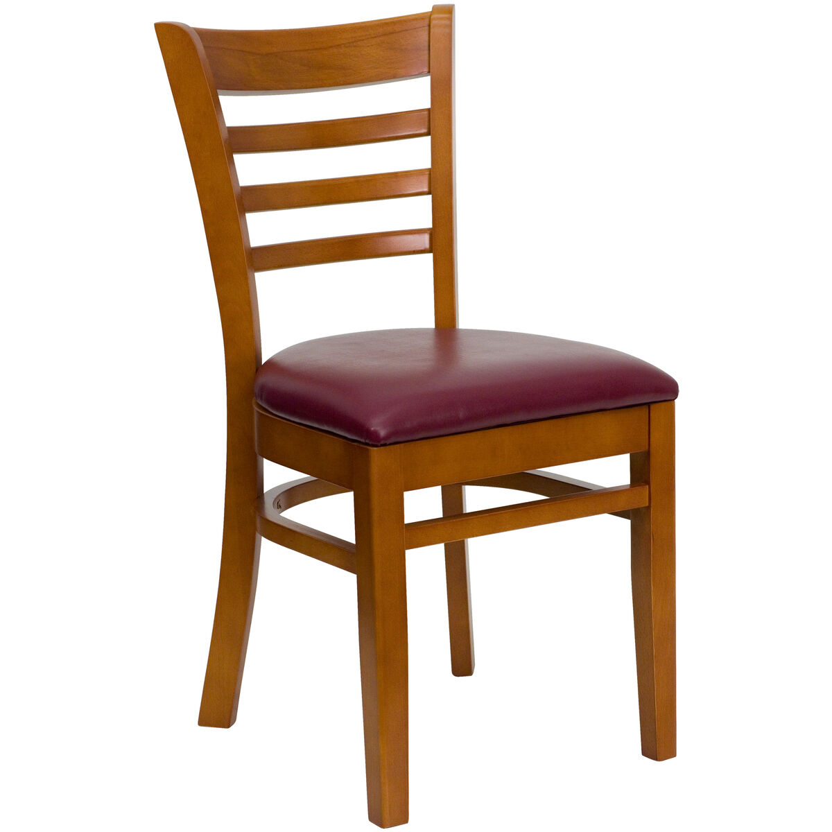 Cherry Wood Chair Burg Vinyl Bfdh 8241cby Tdr