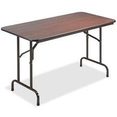 Lorell Folding Table - Mahogany