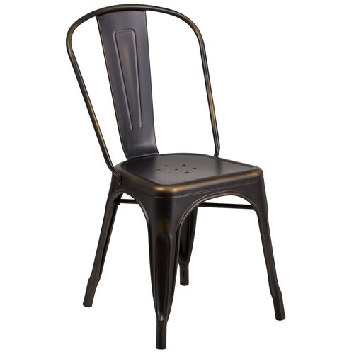 Our Commercial Grade Distressed Copper Metal Indoor-Outdoor Stackable Chair is on sale now.
