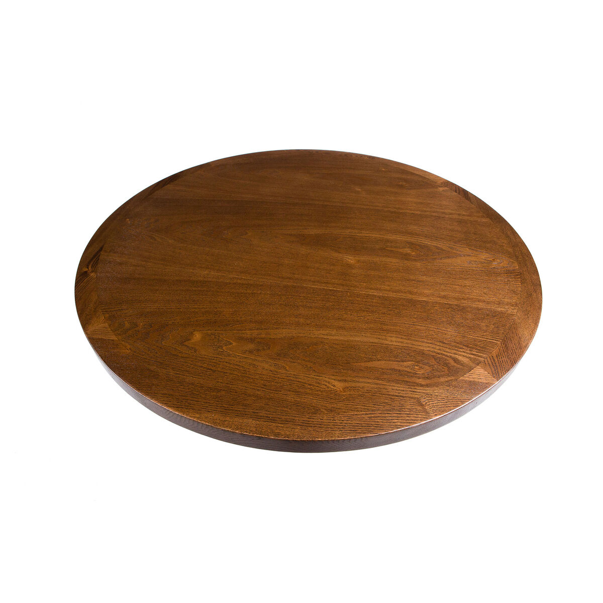 Wood Veneer 48 Round Table Top With Solid Ash Wood Edge