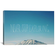 Never Stop Exploring by Leah Flores Gallery Wrapped Canvas Artwork