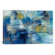 Ultramarine Waves III by Sylvia Vassileva Gallery Wrapped Canvas Artwork