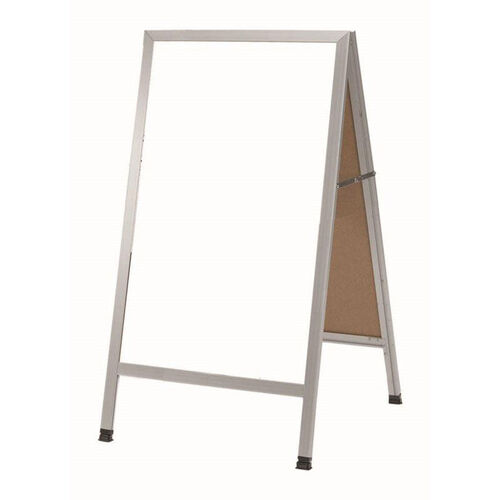 Our A-Frame Sidewalk White Melamine Marker Board with Aluminum Frame - 42