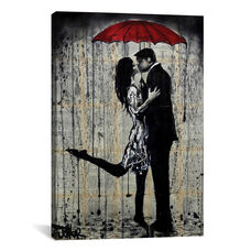 Rainy Hearts by Loui Jover Gallery Wrapped Canvas Artwork