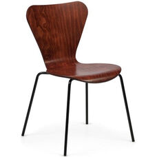 Clover Steel Frame Stacking Chair - Cherry