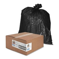 Genuine Joe Heavy -Duty Trash Bags - 1.5 Mil - 40 -45 Gallon - 50 per Box - Black