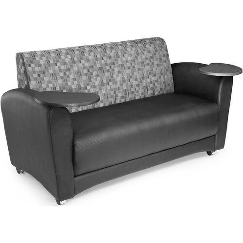 Our InterPlay Tablet Geometrix Nickel Fabric and Black Sofa - Tungsten Finish is on sale now.