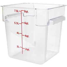 8 Quart Polycarbonate Square Food Storage Container in Clear