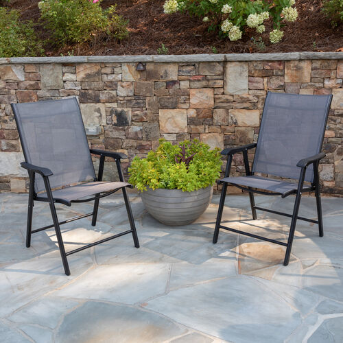Our Black Outdoor Folding Patio Sling Chair (2 Pack) is on sale now.