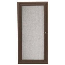 1 Door Outdoor Aluminum Framed Enclosed Bulletin Board - Bronze Anodized Finish - 24