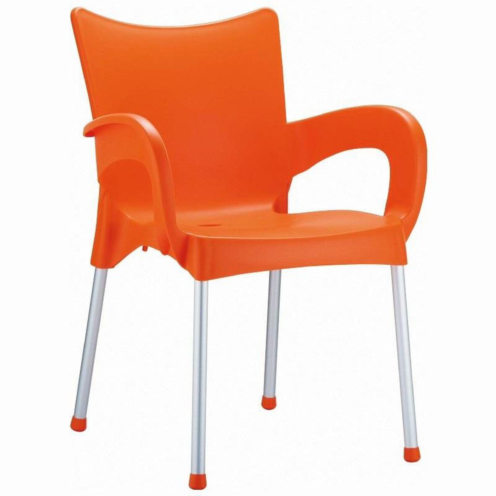 Our Romeo Outdoor Resin Stackable Dining Arm Chair With