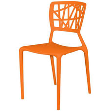 Phoenix Outdoor Stackable Armless Side Chair - Orange