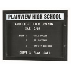 Double Sided Illuminated Community Board with Header and Bronze Anodized Finish - 33
