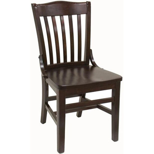 Our Vertical Slat Back Solid Wood Side Chair - Dark Mahogany Finish is on sale now.