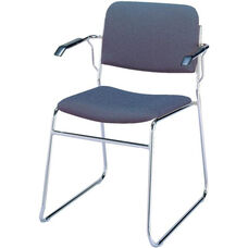 300 Series Stacking Steel Frame Guest Armchair with Sled Base and 1.5