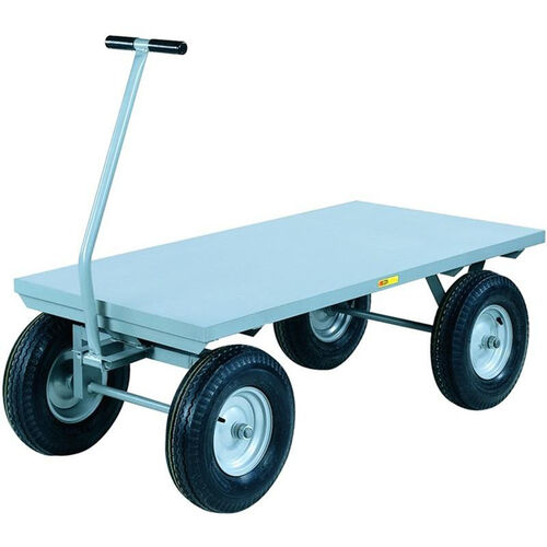 Our 4-Wheeler Wagon Truck With Flush Deck And 4-Ply Pneumatic Wheels - 24