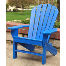 Seaside Recycled Plastic Adirondack Chair in Blue