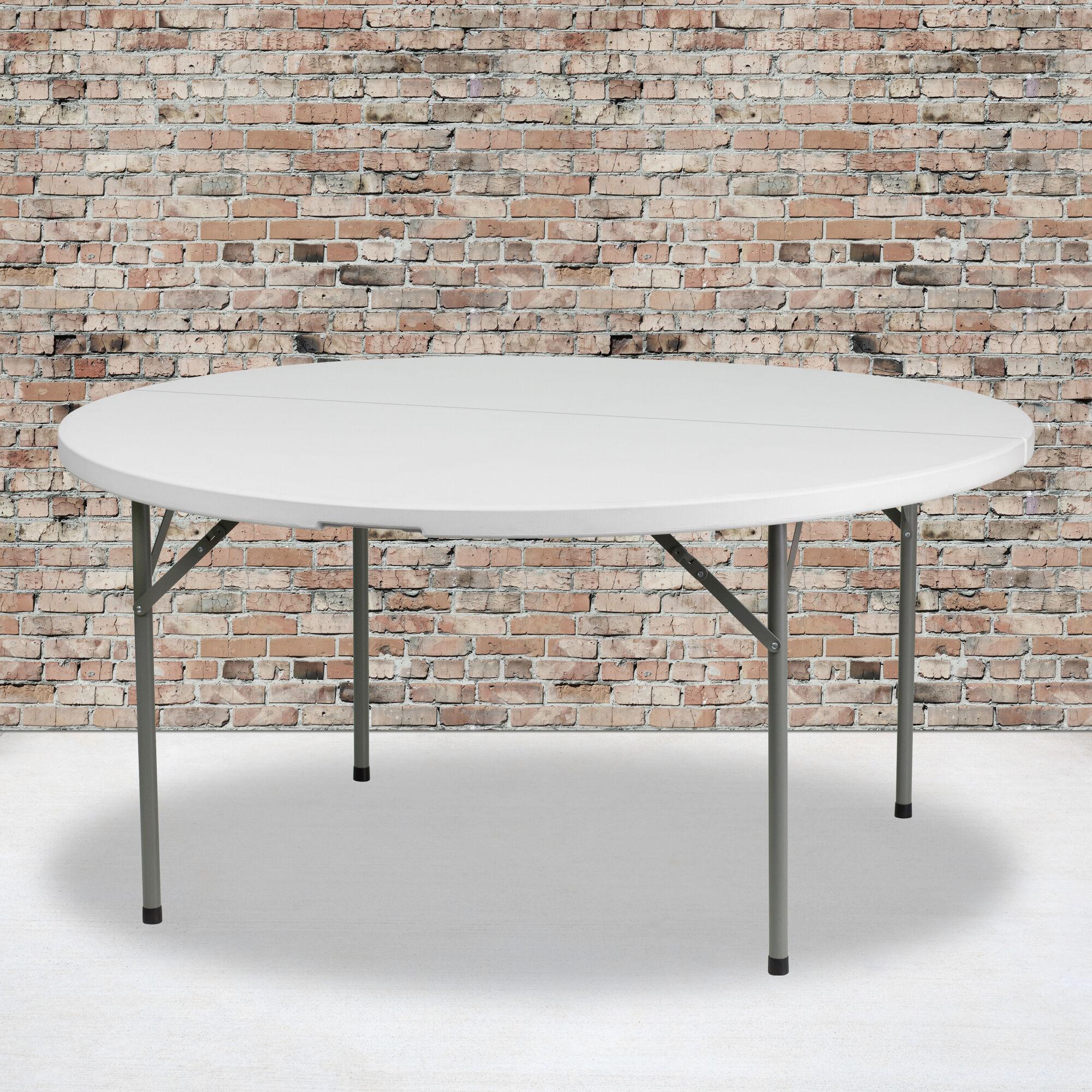 60rd White Plastic Fold Table Dad Ycz 154 Gw Gg Restaurantfurniture4less Com