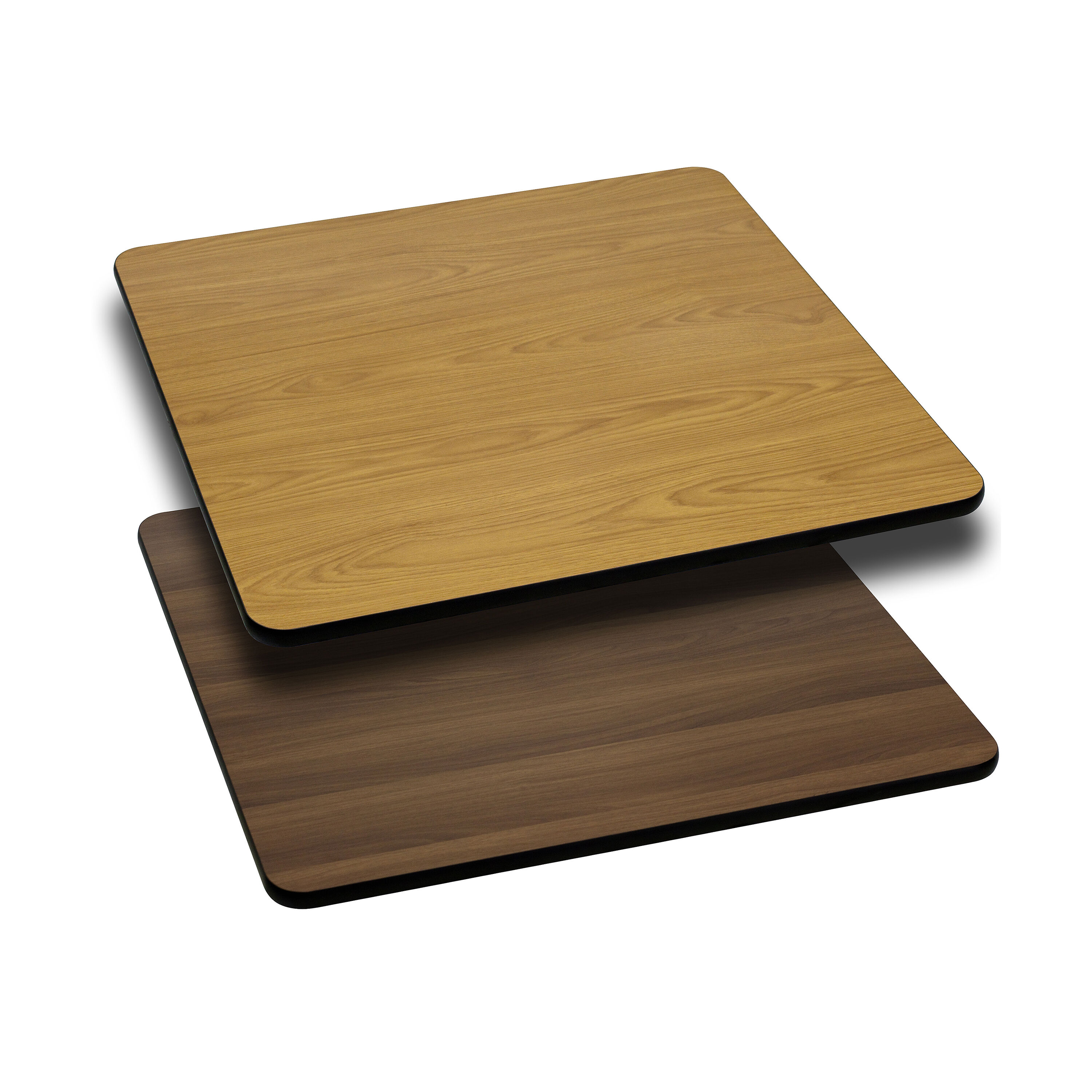 24u0027u0027 Square Table Top With Reversible Natural Or Walnut Laminate Top