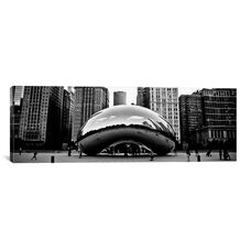 Chicago Panoramic Skyline Cityscape (Bean) by Unknown Artist Gallery Wrapped Canvas Artwork