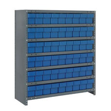 7 Shelf Closed Unit with 54 Drawers - Blue