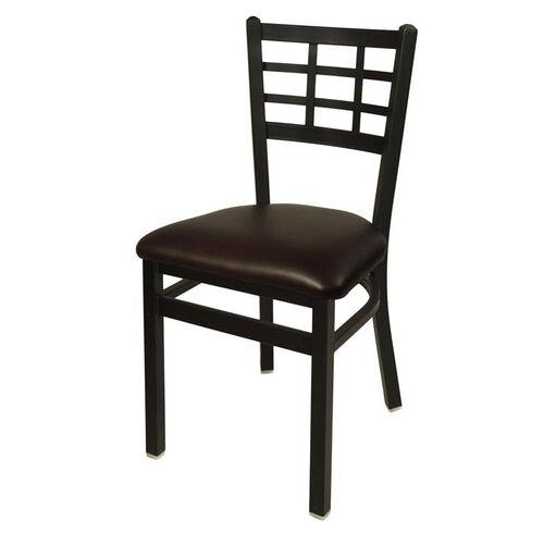 Our Marietta Metal Window Pane Chair - Dark Brown Vinyl Seat is on sale now.