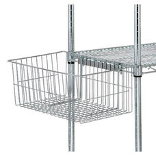 Chrome Wire Shelving Hanging Utility Basket 18
