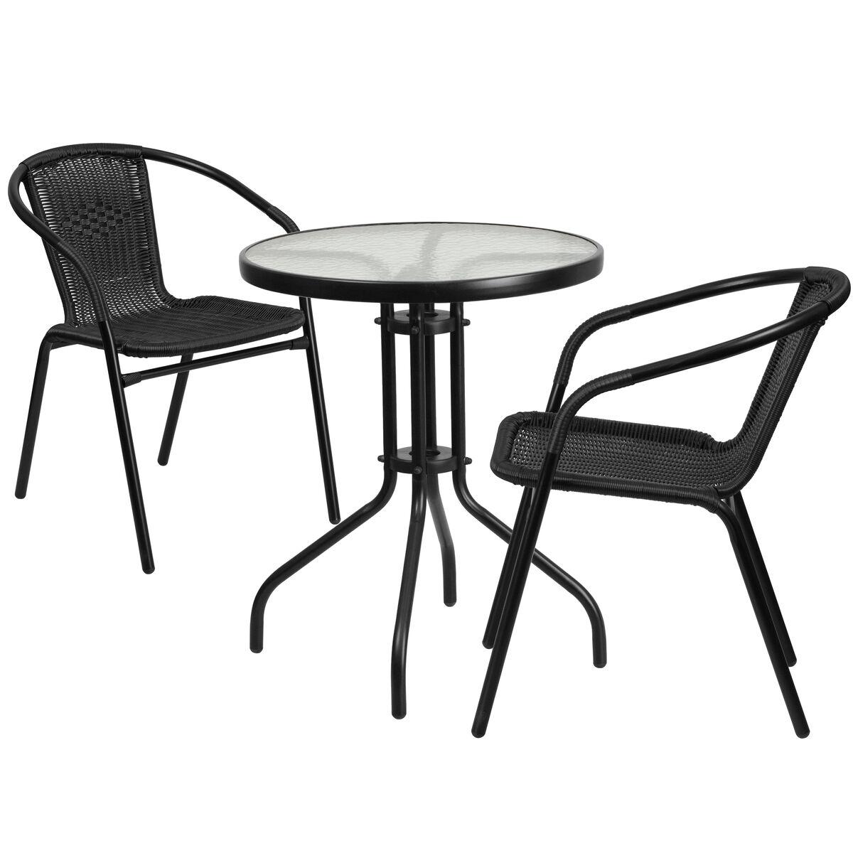 23 75rd Black Patio Table Set Tlh 071rd 037bk2 Gg