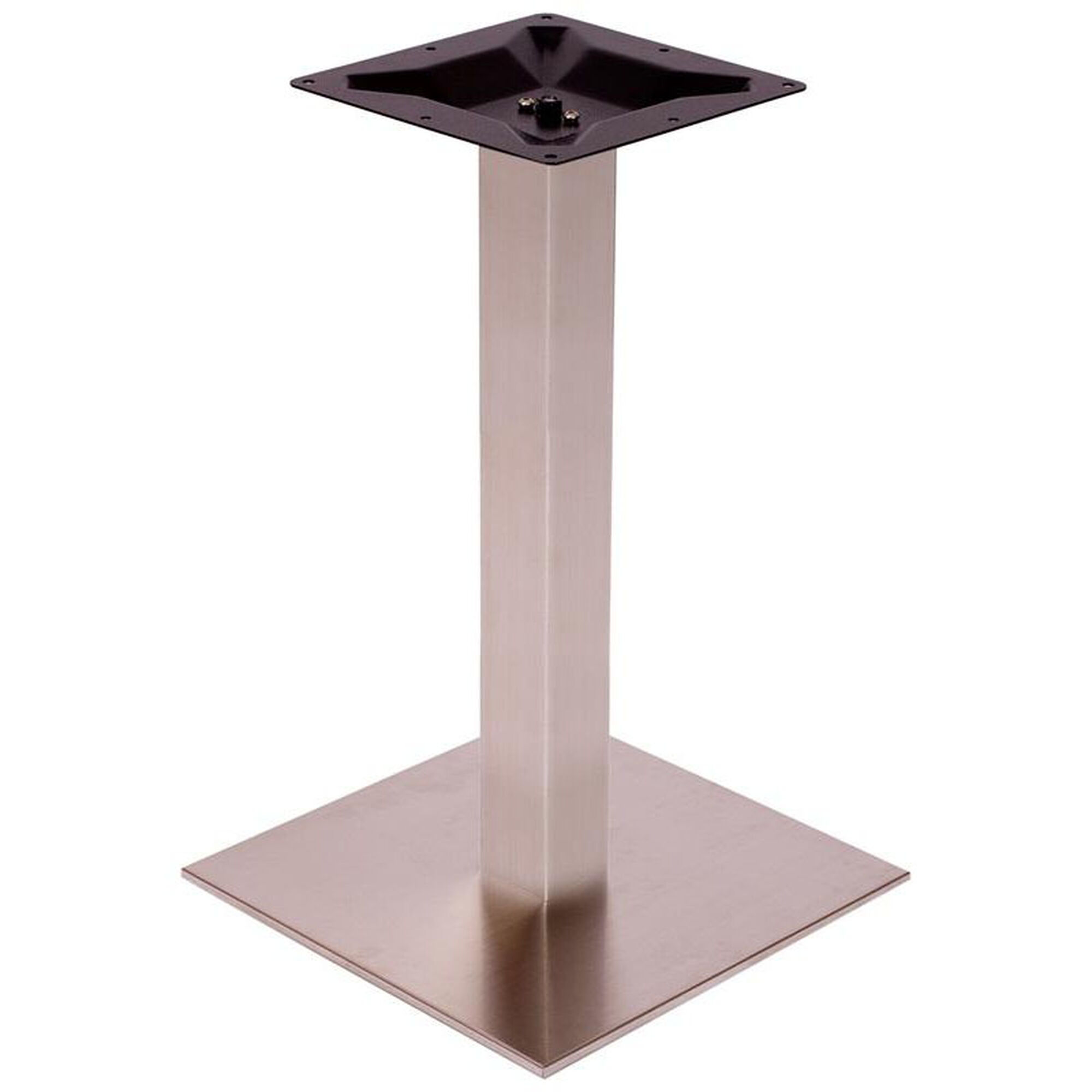 Elite Silver Square Table Base Restaurantfurniture4less Com