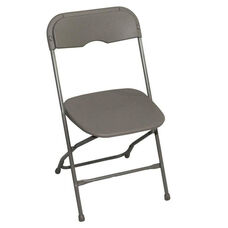 Champ Series Versatile Resin Wedding Folding Chair with Foot Caps - Light Grey
