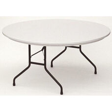 RX-Series Blow-Molded Tamper Resistant Round Folding Table - 60