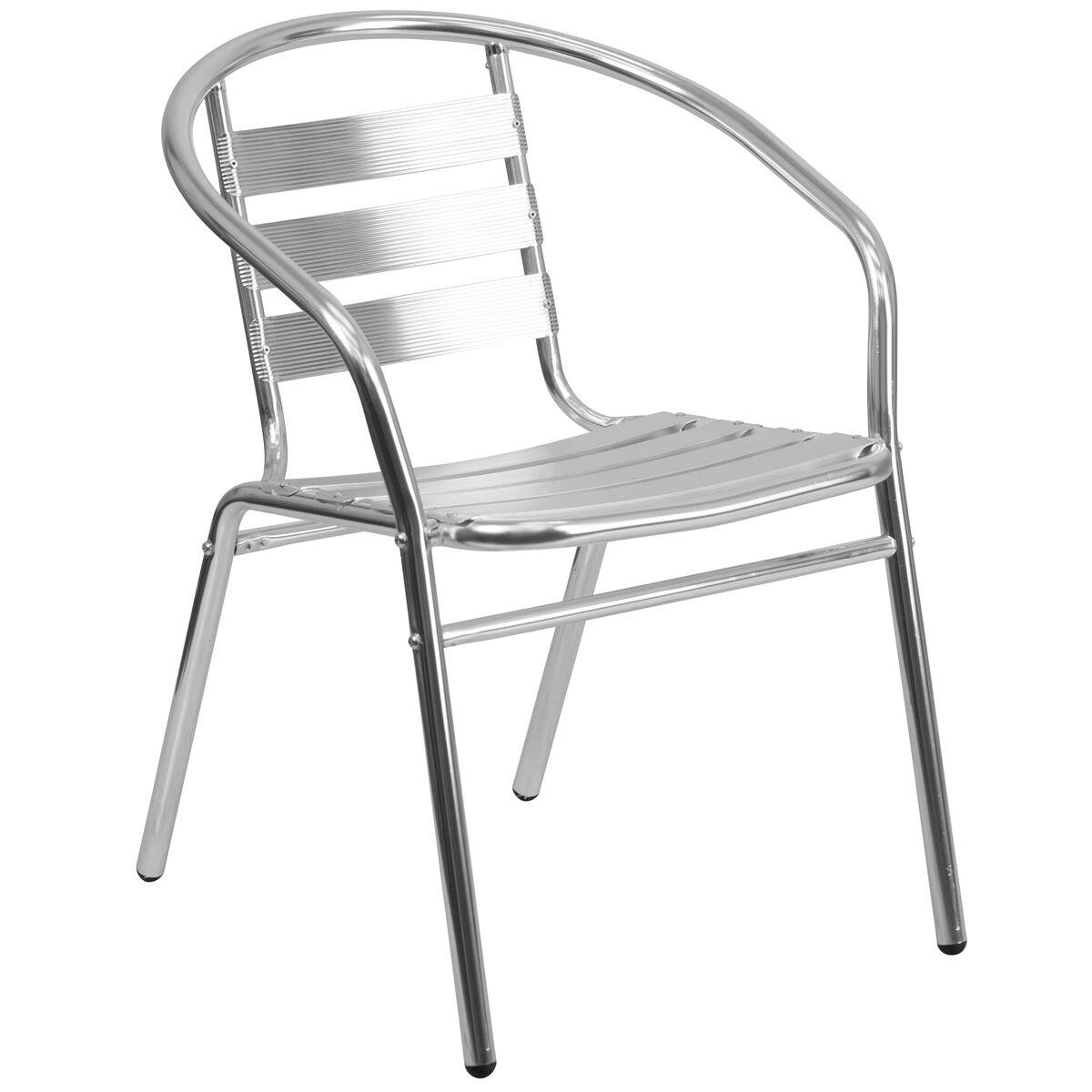 Aluminum Slat Back Chair Tlh 017b Gg