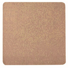 Frameless Burlap Weave Vinyl Display Panel with Radius Corners - Coffee Cream - 48