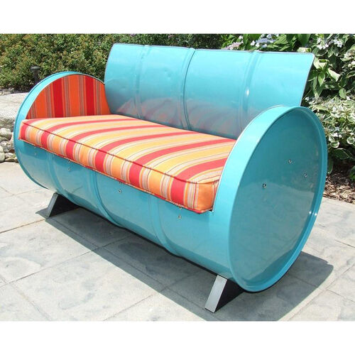 Our Santa Fe Steel Drum Loveseat with Multicolor Accents is on sale now.