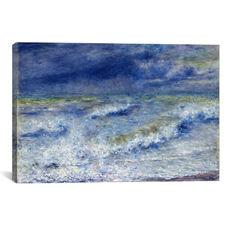 La vague 1879 by Pierre-Auguste Renoir Gallery Wrapped Canvas Artwork