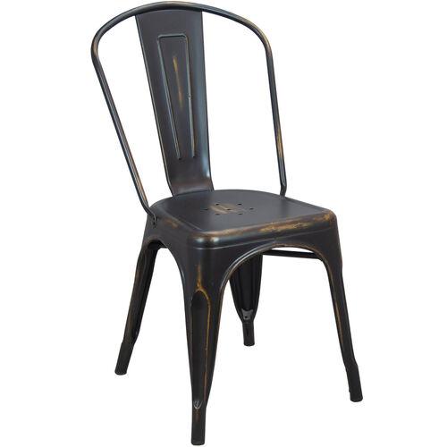 Advantage Brushed Copper Tolix Chair