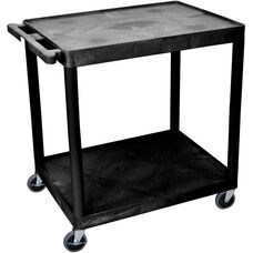 2 Shelf Structural Foam Plastic Utility Cart - Black - 32