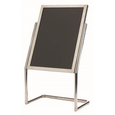 Dual Capability Neon Marker Board and Poster Holder - Chrome Base and Frame - 48