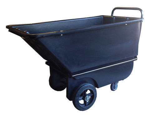 "Our Bayhead 1.1 Cubic Yard Light Duty Tilt Truck 2100lb Capacity - 6"" casters, Black is on sale now."