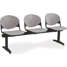 2000 Series Beam Seating with 3 Polypropylene Seats