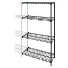 Lorell Add -On -Unit - Wire Shelving - 4Shelves/2Posts - 72