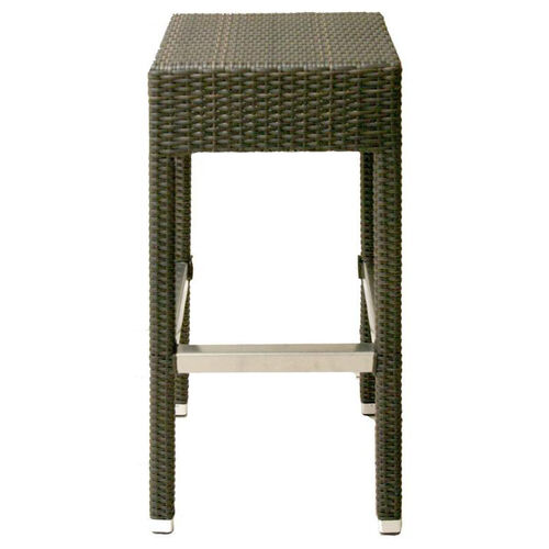 Our Naples Aluminum Backless Outdoor Barstool with Footrest- Indo Coffee is on sale now.