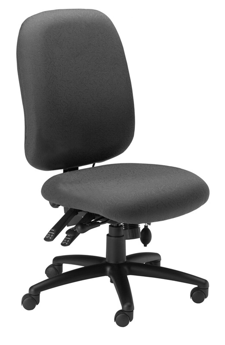 Our 24 Hour High Performance Armless Office Chair With 300 Lb Capacity Gray Fabric Is