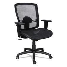 Alera® Etros Series Suspension Mesh Mid-Back Synchro Tilt Chair - Mesh Back/Seat - Black